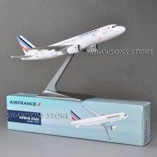 1:200スケールの航空機モデルおもちゃ空気バスA320エールフランス旅客機飛行機ミニチュアレプリカコレクション