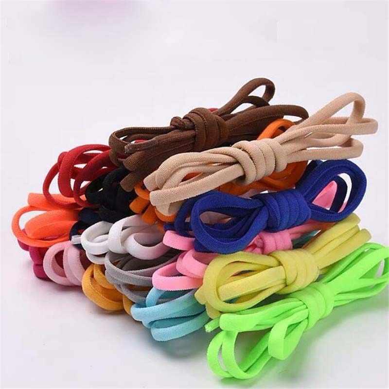 Novo Tênis Sem Gravata Cadarço Cadarços Semicírculo Rápida Travando Sapato laces Elásticas Crianças Adulto Mulheres Homens Sapatos lace Cordas
