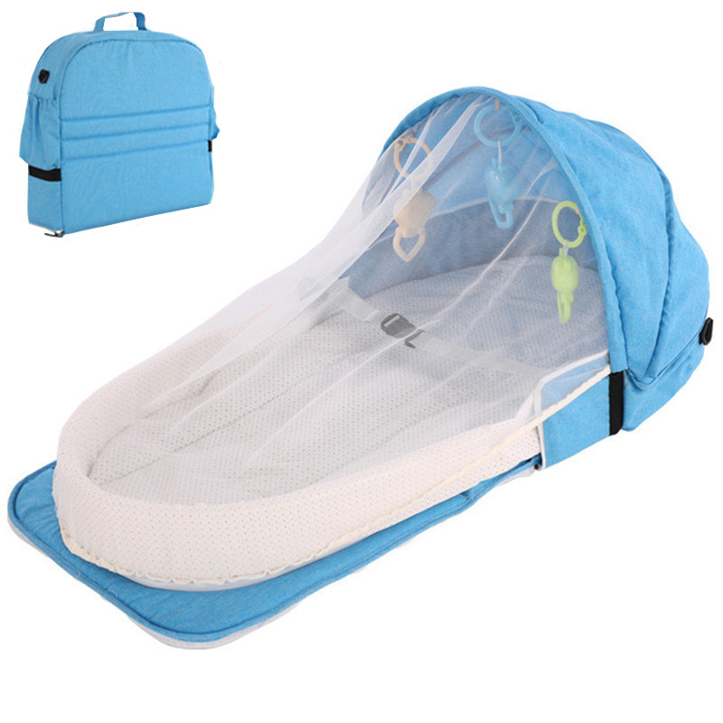2019 New Baby Travel Portable Crib Baby Nest Child Supplies Newborn Multi-function Folding Bed Folding Chair Portable Bed