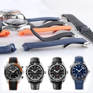 WatchBand 20mm 21mm 19mm 22mm Rubber Strap Sports Seamaster 300 Ocean 600 At150 for Seiko Citizen Man WristWatch Samsung Gear(China)