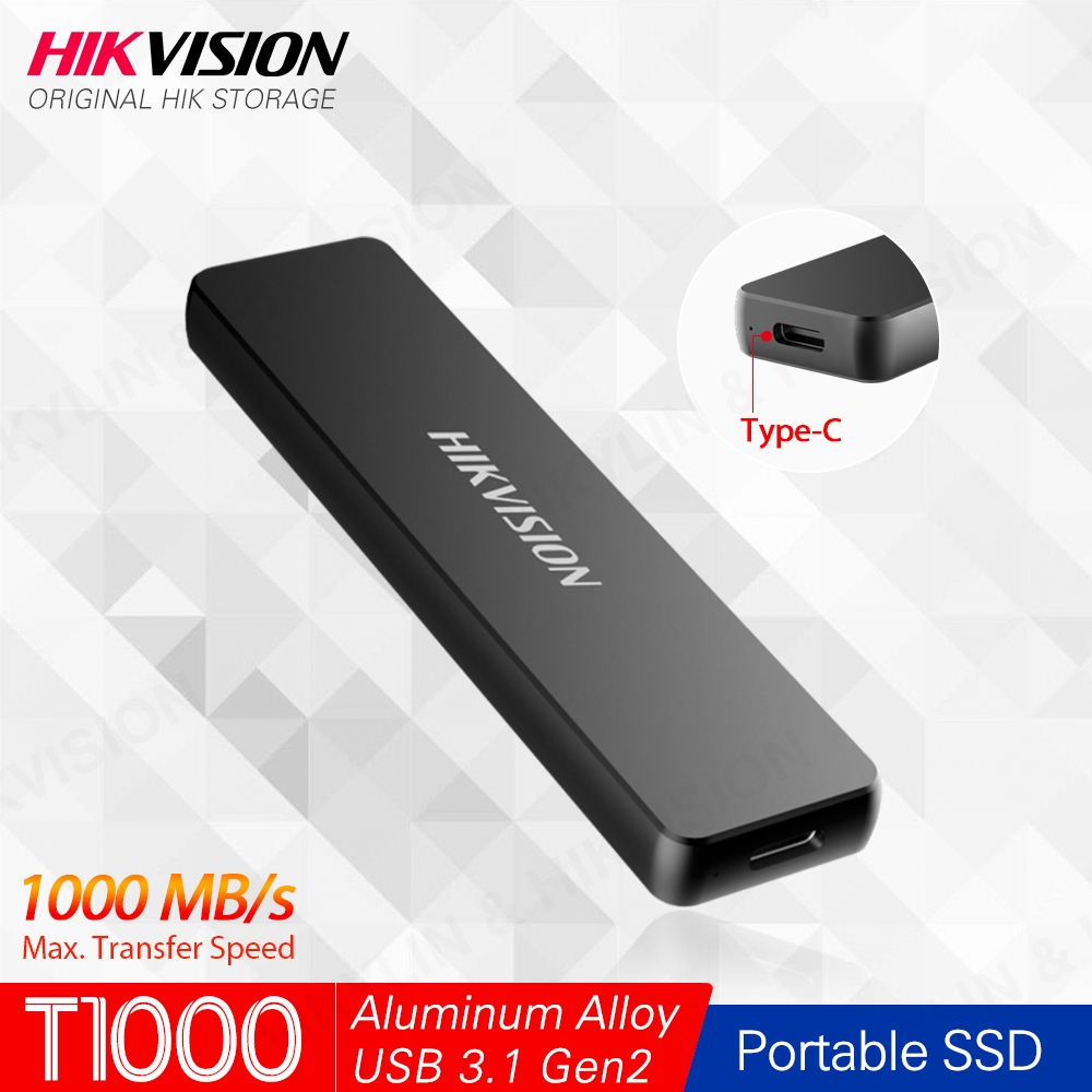 Hikvision HikStorage Portable SSD 512GB External SSD 1TB Disk Drive 256GB SSD USB3.1 Type-C Gen2 Solid State Disk PC Replace Hdd