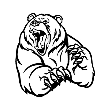 PLAY COOL Funny Angry Brown Bear Car Sticker Automobiles Exterior Accessories Vinyl Decals for Bmw Audi Ford Toyota Honda Lada недорого