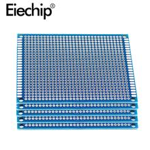 5 sztuk partia 7x9cm dwustronnie prototyp PCB pokładzie 7*9cm uniwersalny obwód drukowany dla Arduino eksperymentalne PCB #8230 tanie tanio 70x90mm Blue PCB Printed Circuit Board Electronic Soldering Board 7x9cm Double Side Prototype PCB Board 7*9cm For arduino copper clad board
