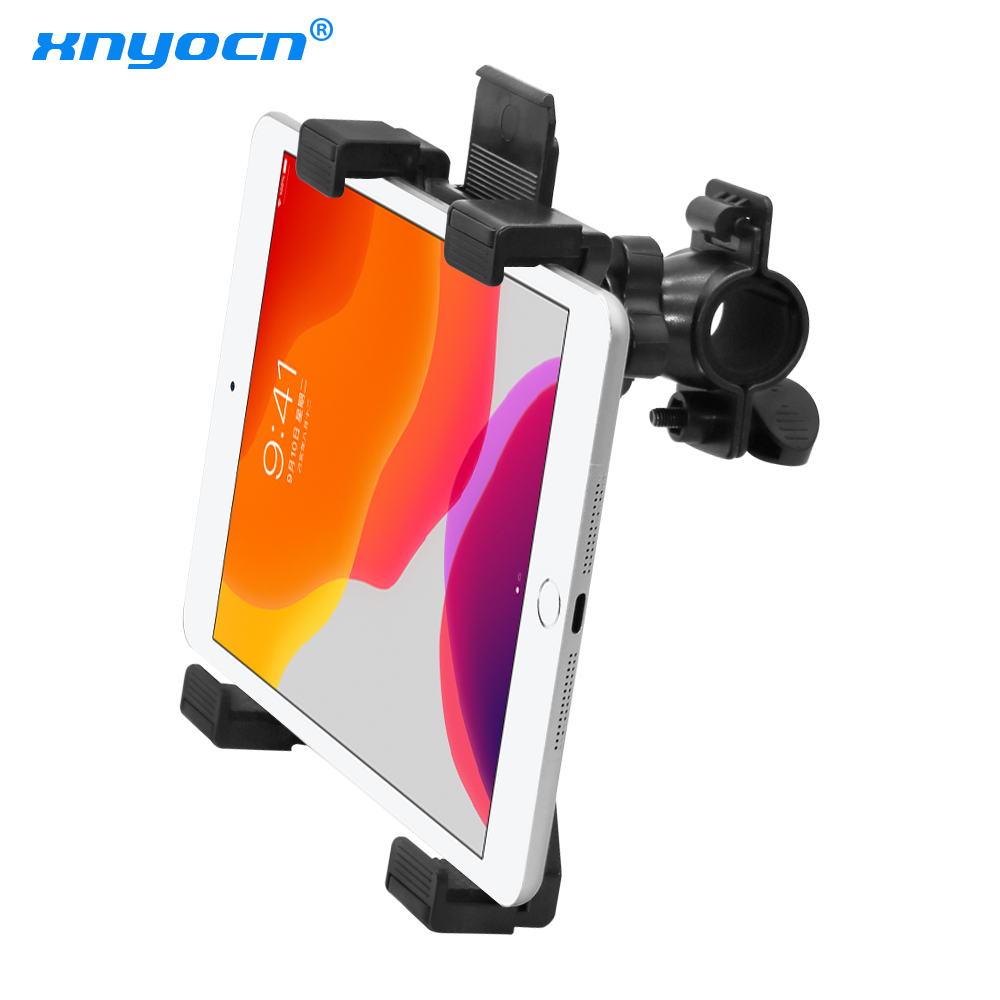 חדש אופניים tablet stand מוסיקה מיקרופון הר אופנוע אופניים מחזיק הר עבור 7 כדי 11 אינץ Tablet iPad אוויר 5 4 3 2 Samsung Tab
