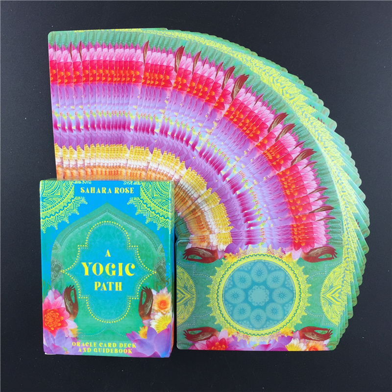 A Yogic Path   Oracle  Deck Card And Electronic Guidebook Tarot Game Toy Tarot Divination Guide Ancient Yogic Wisdom