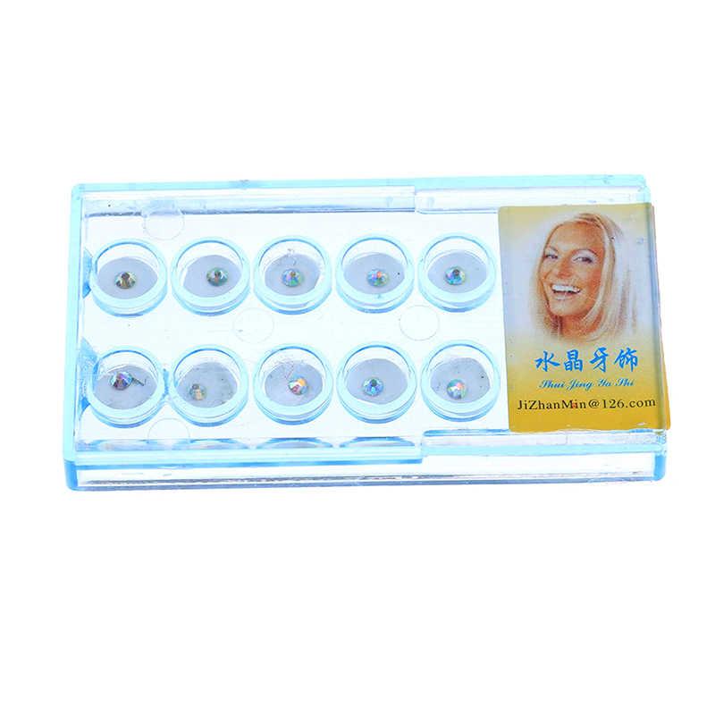 10PcsอะคริลิคเพชรBurวัสดุทันตกรรมฟันWhitening Studsตกแต่งฟันฟันปลอมฟันปลอมคริสตัลเครื่องประดับOralสุขอนามัย