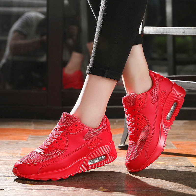 LZJ New 2019 Women Sneakers Summer Breathable Mesh Brand Shoes For Woman Black Green Red Tenis Feminino Ladies Shoe Basket Femme