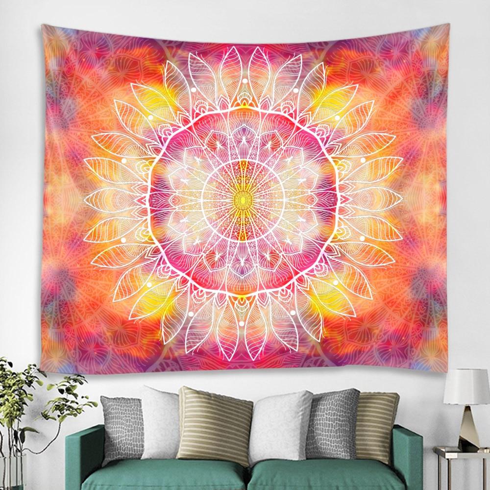 Multicolor Mandala Background Decoration Tapestry Scene Layout Hanging Cloth