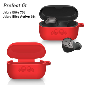 Image 4 - 2020 lançado silicone macio pele amortecedora capa protetora com chaveiro para jabra elite active 75t led traseiro visível