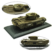 1/72 British Army World War II Churchill VII Infantry Tank Alloy Finished Model Car Toys Sand Table Layout Building Materials недорого