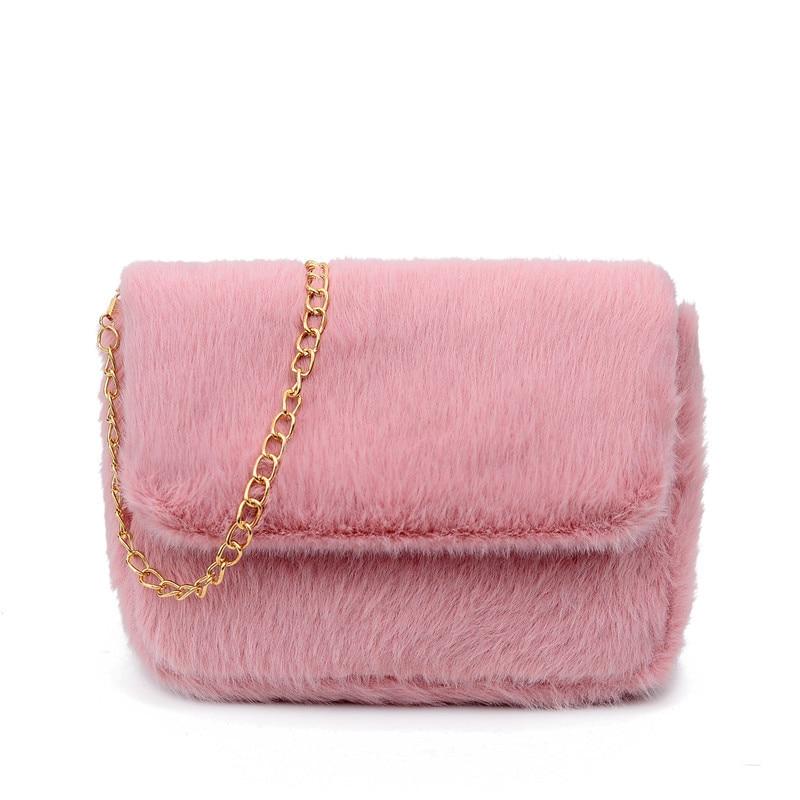 Сумки через плечо из искусственного меха для женщин, плюшевые кошельки и сумочки на осень и зиму, женская сумка через плечо для телефона, кош...
