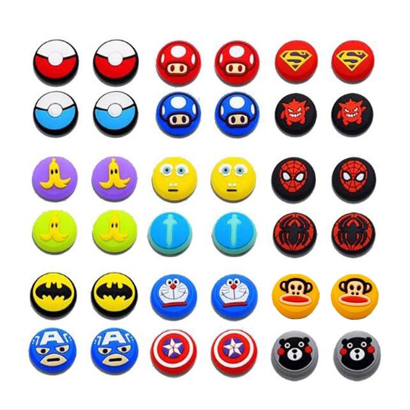 Cartoon Marvel Joystick Cover Thumb Stick Grip Cap For Nintend Switch NS Lite Joy-Con Controller JoyCon Gamepad Thumbstick Case
