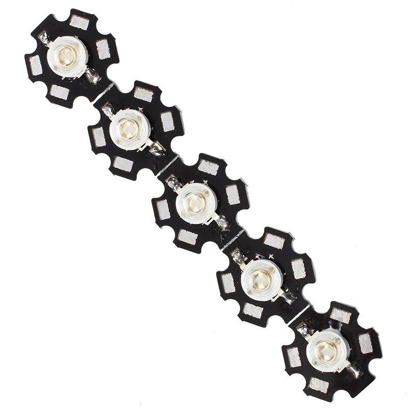 Промо-акция! 5 шт 3W высокой мощности звезда светодиодный светильник лампа (синий)