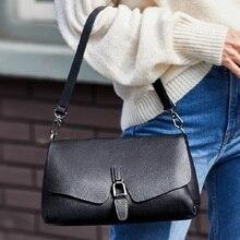 ZOOLER Famous Brand Genuine Leather Shoulder bag Hot Button Skin Shell bag leather purse Girl 2021 Designer Tote Bags Hot #SL200