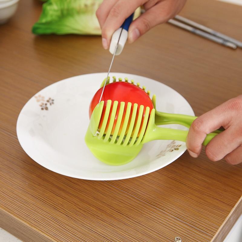 Hand-Held Lemon Tomato Fruit And Vegetable Slicer Pastries Clip Fruit Splitter Tomato Egg Slice Clip