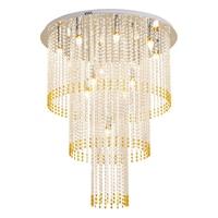 modern 3 layers crystal chandelier lighting AC110V 220V yellow crystal living room bedroom lamp