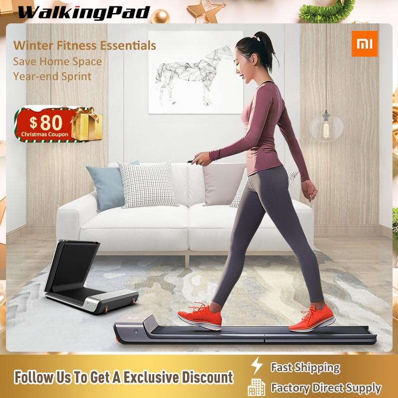 WalkingPad koşu bandı A1 altında akıllı katlanabilir elektrikli spor yürüyüş makinesi konveyör bant vücut geliştirme egzersiz ekipmanları