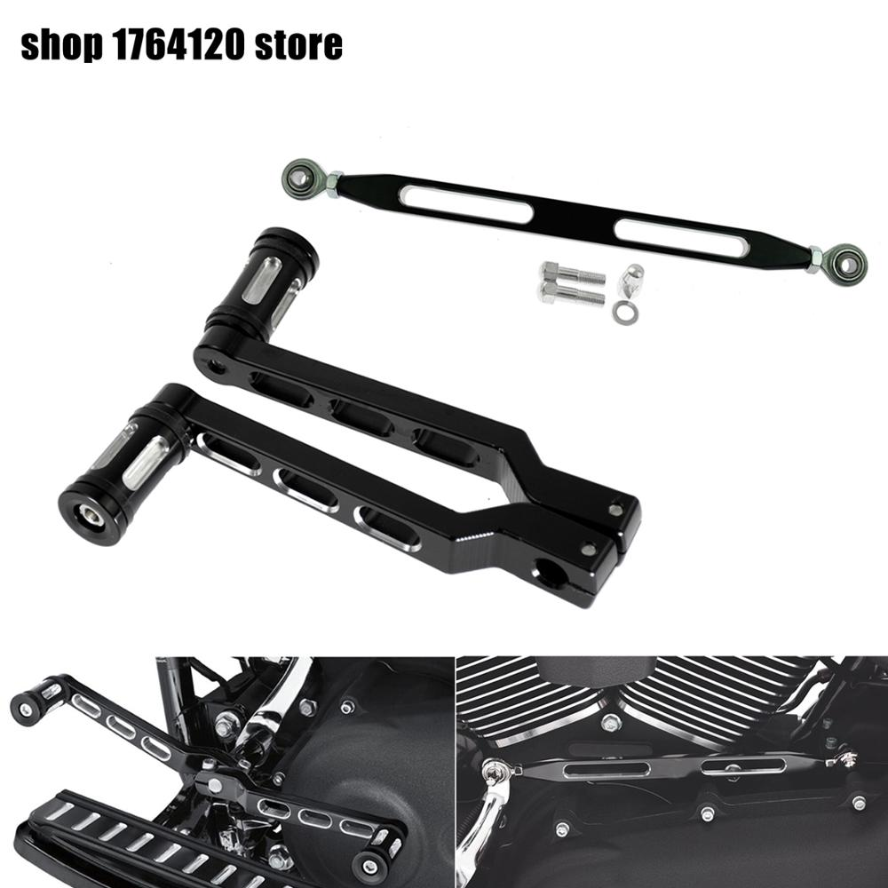 330mm Gear Shift Linkage Brake Clutch Lever & Pedal Heel Toe Gear Shifter Shift Lever w/ Shift Pegs For Harley Touring Softail