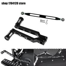 330mm Gear Shift Linkage Brake Clutch Lever & Pedal Heel Toe Gear Shifter Shift Lever w/ Shift Pegs For Harley Touring Softail new deep cut billet cnc gear motorbike black shifter shift linkage for harley touring flht fltr flst fltc undefined