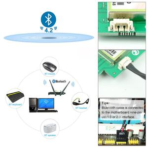 Image 3 - Ubit Bluetooth WiFi Card AC 1200Mbps 7265 Wireless WiFi PCIe Network Adapter Card 5GHz/2.4GHz Dual Band PCI Express Network Card