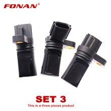 Conjunto 3 cames virabrequim sensor de posição para nissan 350z altima maxima murano quest 6 cyl 3.5l vq35de a29632 a29660 a29640