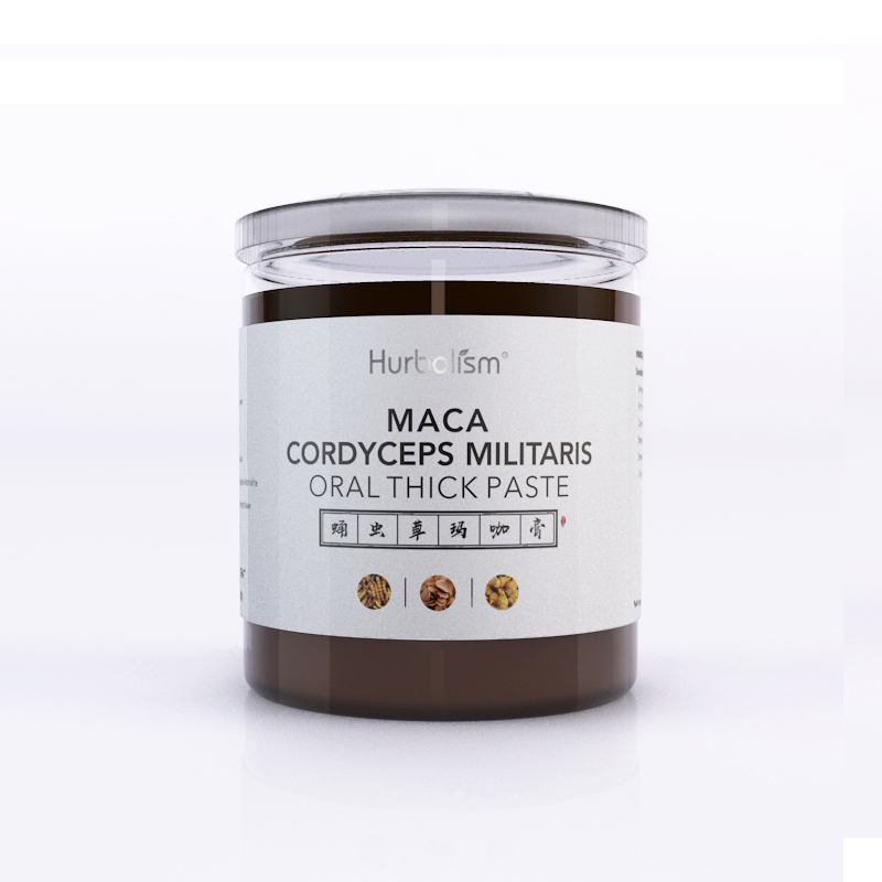 Hurbolism Maca Cordyceps militaris Oral Thick Paste, Enhance male sexual ability and male stamina, Enhance sperm motility, 300g