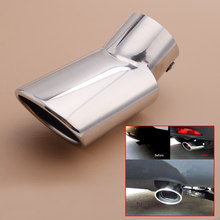 Stainless Chrome Exhaust Tail Pipe Tip Muffler Trim Tailpipe fit for Honda CRV CR-V 2012 2013 2014 2015(China)