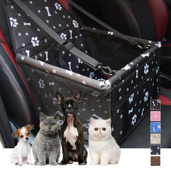 Waterproof Pet Dog Car Seat Cover Travel Dog Carrier Outdoor Safe Dog Car Seat Basket Cat Puppy Bag Travel Mesh Hanging Bags