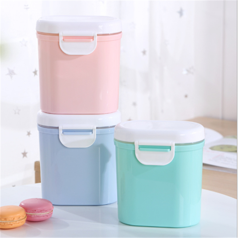 Baby High Capacity Milk Powder Storage Box Double Layer Infants Portable Baby Food Container Feeding Box For Newborn PP Packing