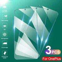 Protector de pantalla de cristal templado para Oneplus 7, 7T, 6, 6T, 8T, película protectora de cristal para Oneplus 5, 5T, 3 y 3T, 3 uds.
