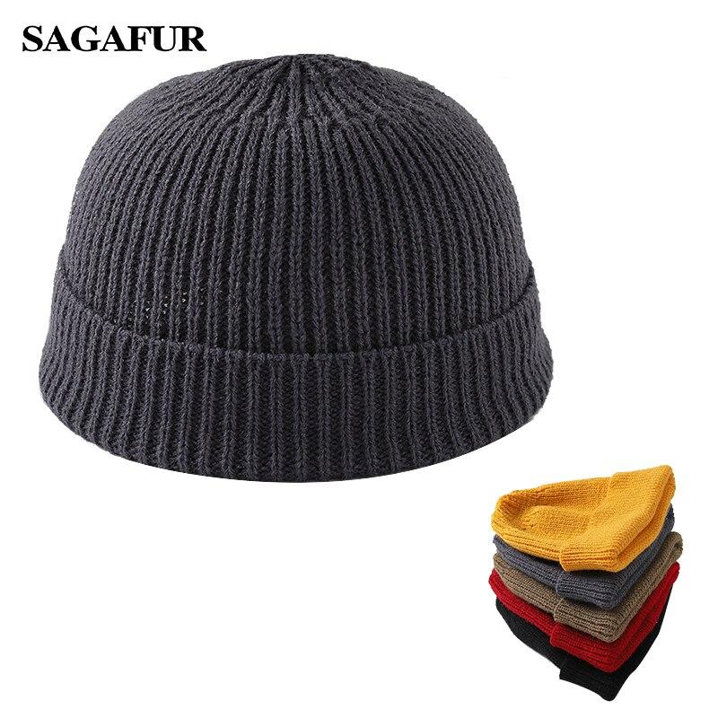 Winter Beanies For Women Men Skullcap Solid Color Unisex Knitted Hats Female Fashion Soft Elastic Skullies Ski Warmer Melon Caps