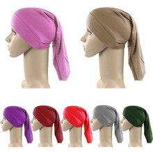 Женский головной платок, мусульманский хлопок, эластичное нижнее белье, внутренняя шапка, хиджаб, шарф, тюрбан, шапка, мусульманская шапочка...