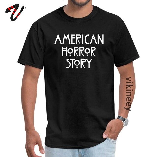 American Horror Story Logo artworknegru  Black T Shirts High Quality Summer 100% Cotton Crew Neck Mens Tops Tees Tops Shirt