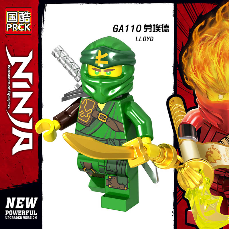 Single Sale LegoINGlys Ninja Mini Figure ZANE Wu KAI LLOYD NYA JAY COLE ICE EMPEROR Building Blocks Bricks Toy KID Gift  Friends