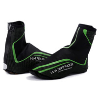 Waterproof Cycling Shoe Cover Reflective Full Zip MTB Road Bike Overshoes Outdoor Sports Riding Sneakers Shoes Cover Green|  -