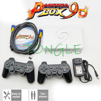 2 Players Wireless version Pandora Box 9D 2500 in 1 motherboard HDMI/VGA output + Gamepad Set USB connect joypad 3D games Tekken image
