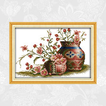 Joy sunday flower in pot Набор для рисования крестиком распродажа