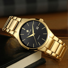 Relojes Hombre 2021 WWOOR Brand Watch Men Quartz Business Sport Watches Luxury Gold Black Full Steel Waterproof Date Wrist Watch