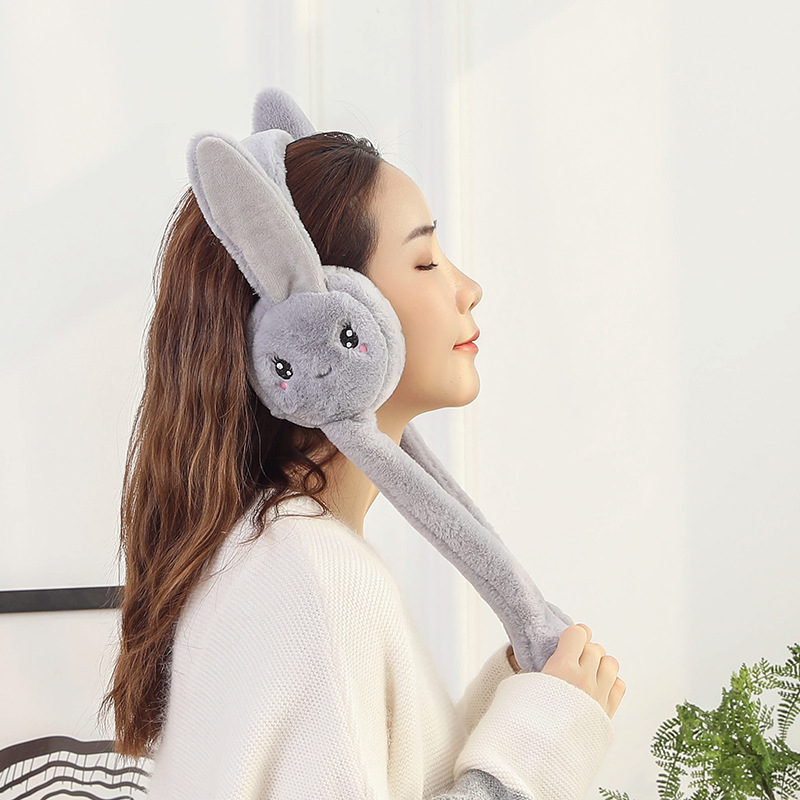 2019 Popular Winter Warm Rabbit Earmuffs, Long Rabbit Ear Earmuffs For Women