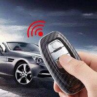 For Audi carbon fiber key case Key Case Cover for Audi A6L A8L A4L A5 A7 Q5 Q3 Q7 TT S6 Car Carbon Key Case Buckle