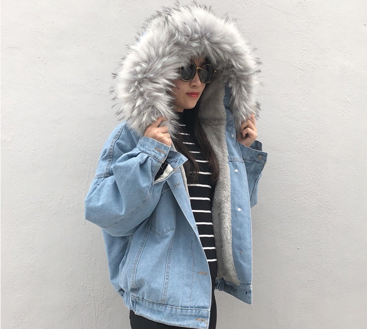 Hcf5d087fb1114991b450a2985938569fa LUZUZI 2019 New Warm Winter Bomber Women Winter Autumn Hooded Girls Coat Jeans Denim Jackets Basic Ladies Top Windbreaker Female