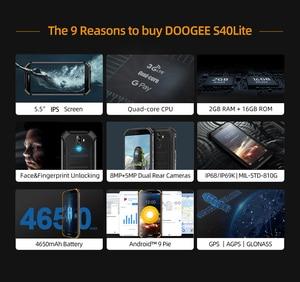 Image 2 - Doogee teléfono inteligente S40 lite, teléfono móvil resistente con Android 9,0 os, pantalla de 5,5 pulgadas, batería de 4650mAh, procesador MT6580, Quad Core, 2GB RAM, 16GB ROM, cámara de 8.0MP, IP68/IP69K