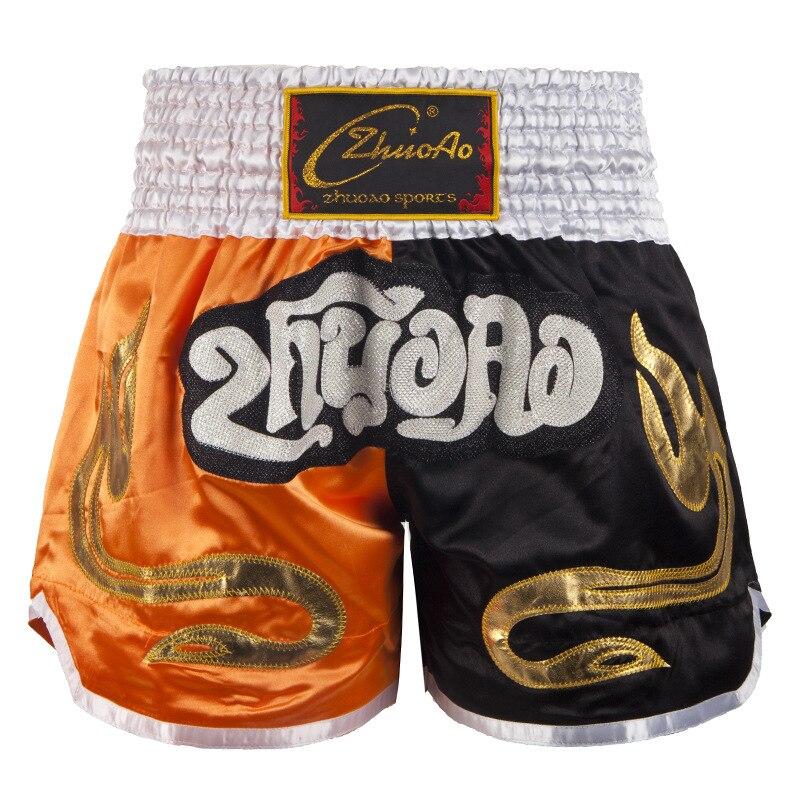 Bordado muay thai boxing shorts 2020 novo