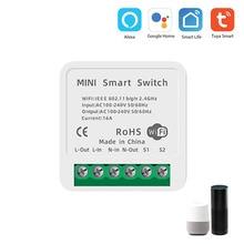 16A Tuya WiFi Smart Switch Led Light Smart Life Push Module Supports 2 Way APP Voice Control Relay Timer Google Home Alexa