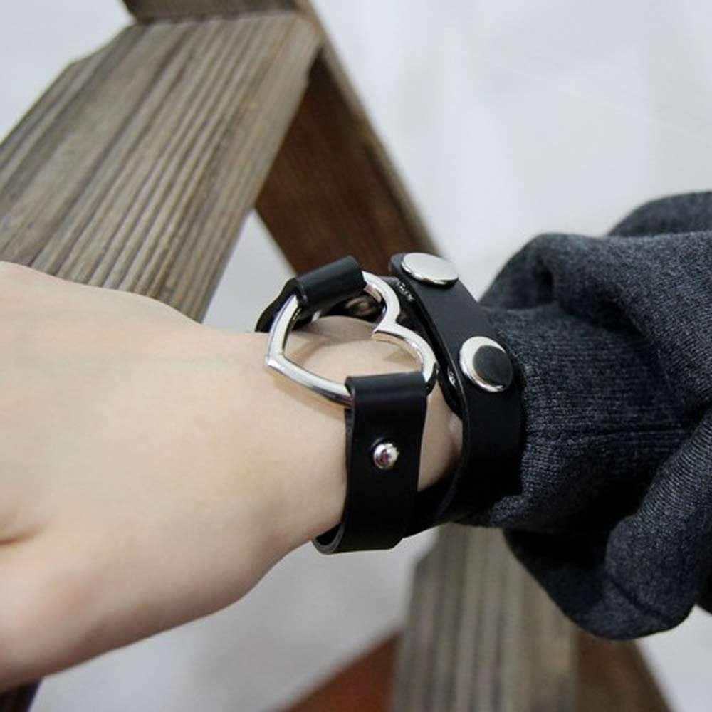 2019 新ステンレス鋼ハートチョーカーネックレスネックレスチャーム女性 chokerTrendy ミックスカラフルな革バックルベルト女性のためのマキシコラル