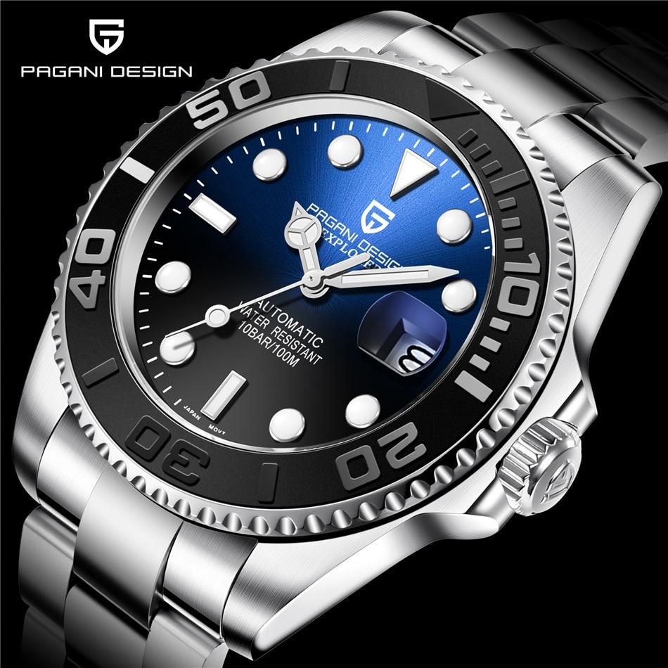 dwaterproof água 40mm clássico relógio de luxo