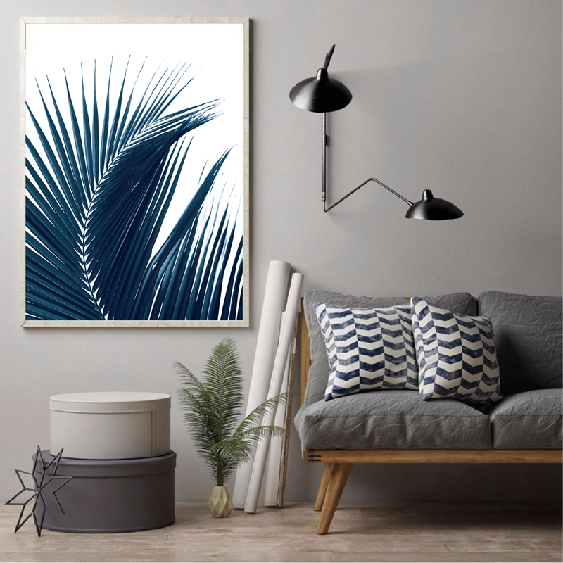 Palm Leaves Canvas Painting Home Decor
