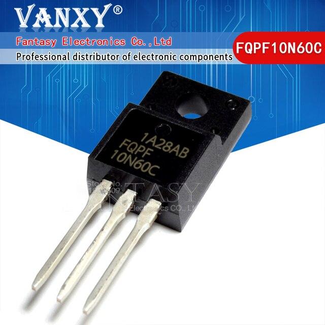 10PCS FQPF10N60C TO 220 10N60C 10N60 TO220 FQPF10N60 new MOS FET transistor