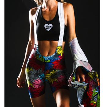 Uwielbiam ból damskie spodenki rowerowe spodenki na rower American Roadwear Mountain Bike podkładka żelowa Outdoor Lycra kolarstwo szorty z szelkami tanie i dobre opinie CN (pochodzenie) WOMEN 100 poliester Love The Pain Lycra Jumper Shorts Z krótkim rękawem Bezpośrednia sprzedaż z fabryki