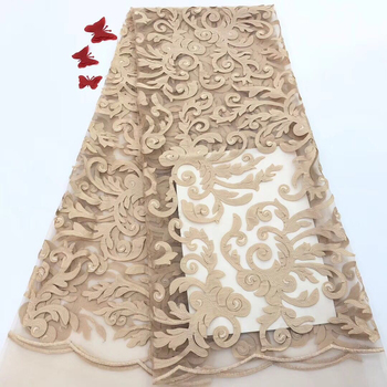 African Lace Fabric 2020 High Quality French Tulle Lace Fabric Bride Nigerian Lace Embroidery Fabrics For Wedding FJ3116